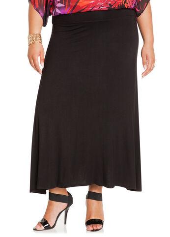 Long Rayon Span Skirt