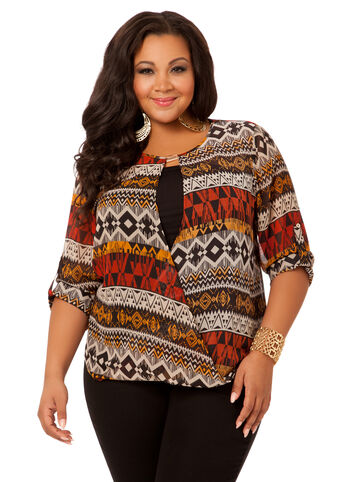 Tribal Wrap Blouse