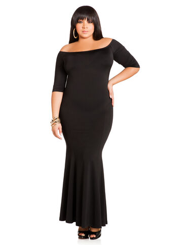 Plus Size Maxi Dress -  Mermaid Maxi Dress