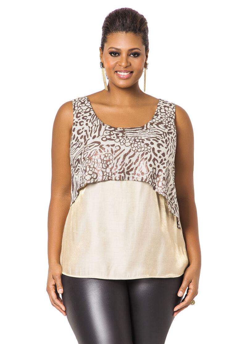 Shimmer Tank with Sequin Overlay
