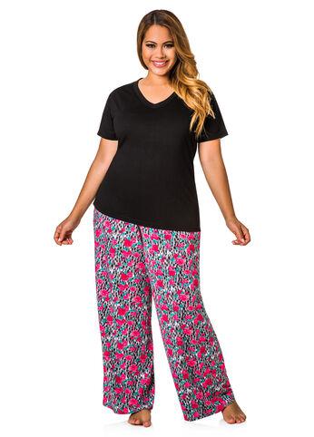 Two Piece Tee Pajama Set