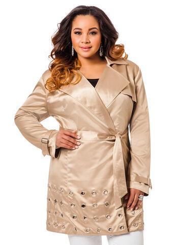 Grommet Trench Coat