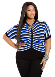 Ruched Front Knit Plus Size Top