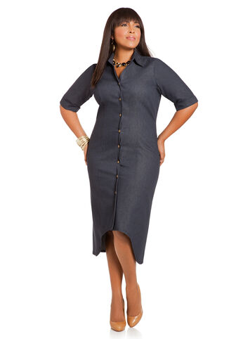 Plus Size Fashion: Denim Dress