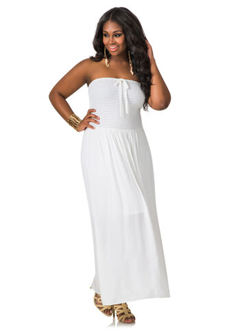Smocked Tube Top Dress