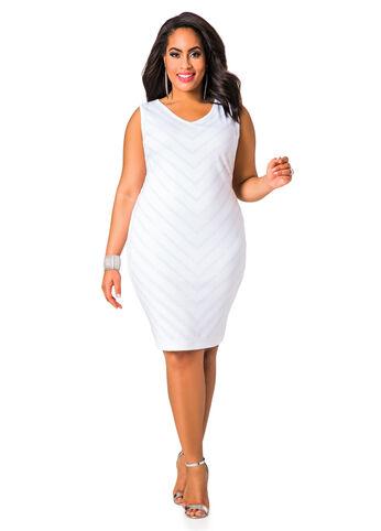 Chevron Stud Detail Dress