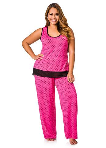 Sleeveless Two Piece Pajama Set