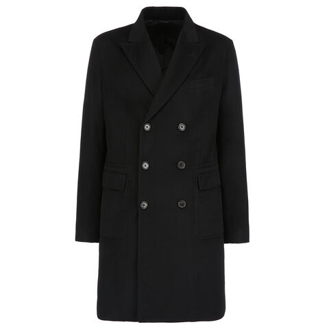 IMPORTANTE DOUBLE BREASTED CASHMERE COAT