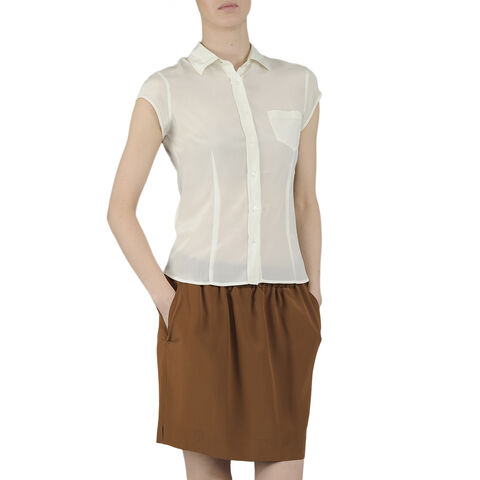 Camicia In Georgette Di Seta S