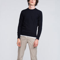 Roundneck in cotton and cashmere Sweater