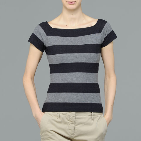 T-Shirt Jersey Stretch A Righe