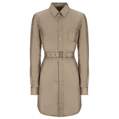 AGM LONG NYLON SHIRT DRESS