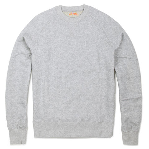 COTTON AND WOOL CREW NECK SWEATSHIRT