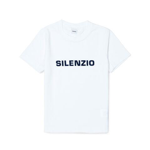 T-Shirt Con Stampa Silenzio