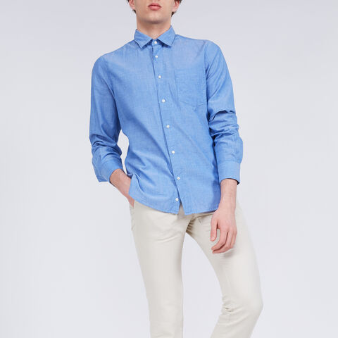 Ridotta Ii Shirt In Chambray Cotton