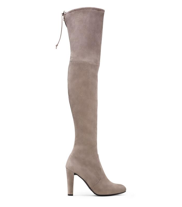 SW Over Knee Grey Heeled Boots
