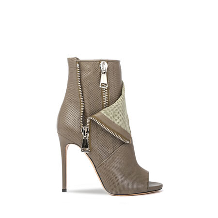 Perforated Open-Toe Boots