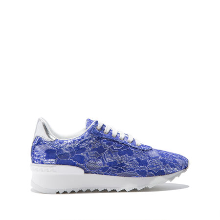 SEQUIN LACE PANEL SNEAKERS