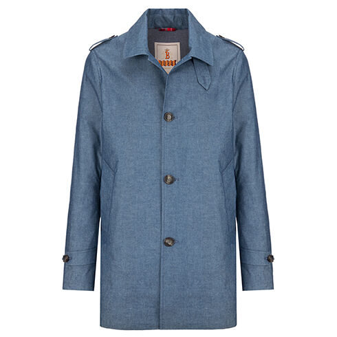 LANGDALE COAT - TECHNICAL CHAMBRAY