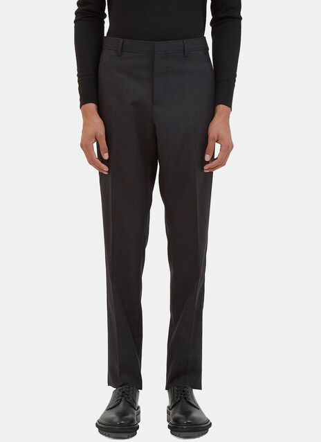 Contrast Panel Slim Tailored Pants