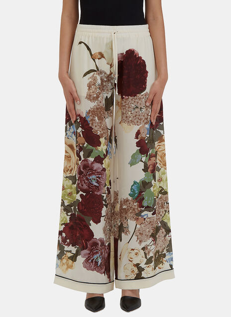 Wide Leg Floral Printed Pyjama Pants