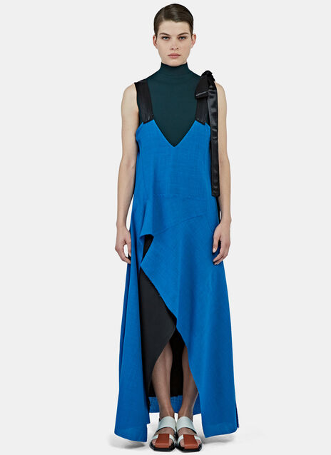 Long Asymmetric Bicolour Dress