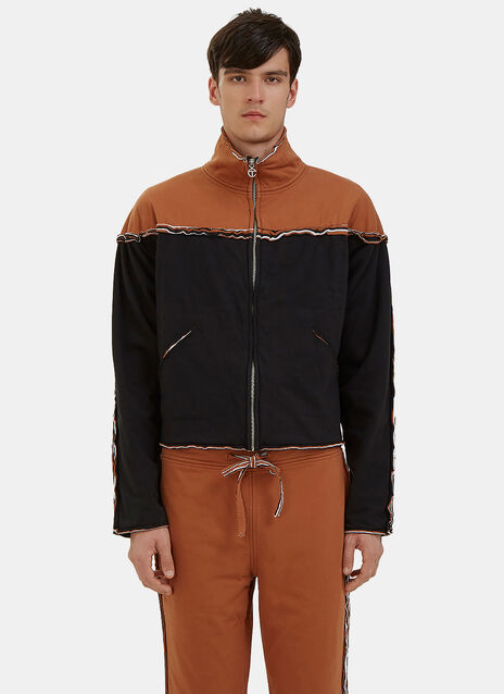 Bi-Colour Raw Layered Track Jacket