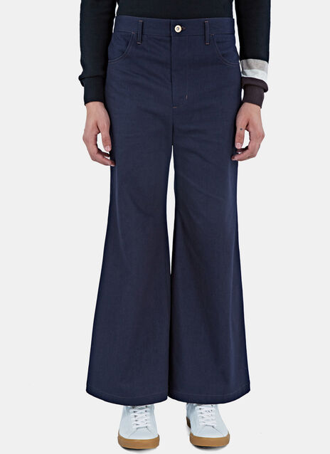 Isaac Wide Leg Flared Jeans
