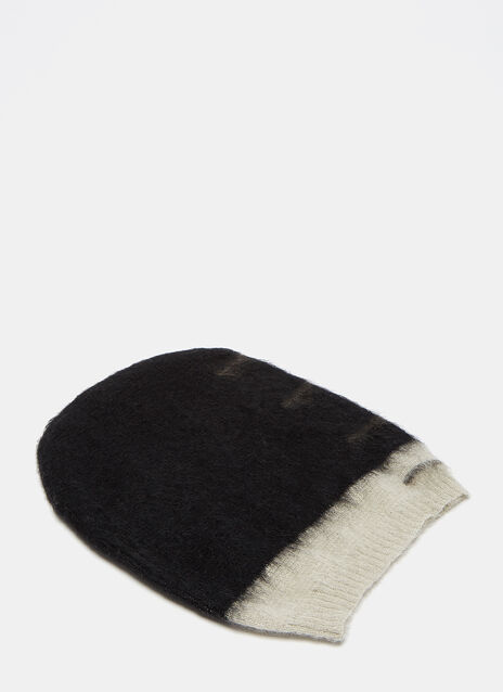 Faded Mohair Knit Beanie Hat