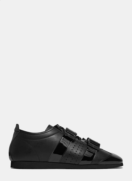 Multi-Buckle Leather Sneakers