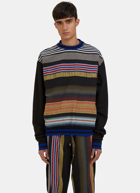 Multicolour Striped Crew Neck Sweater