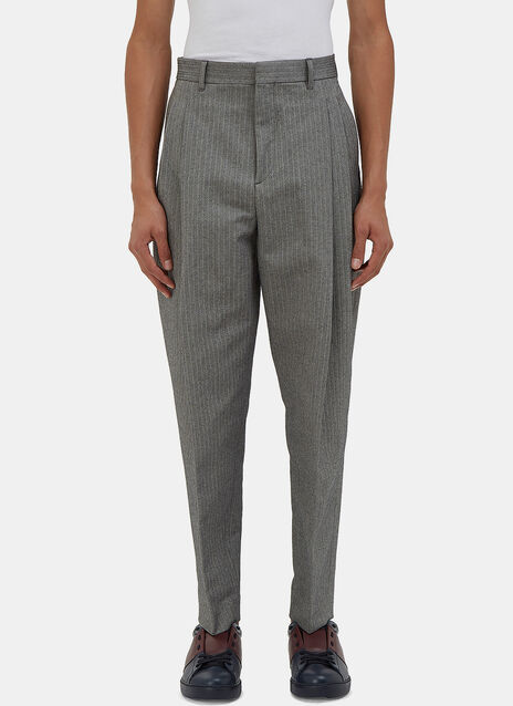 Piano Pleated Chevron Pants