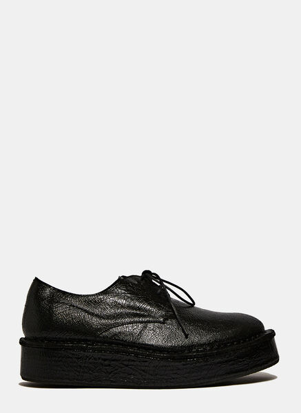 Image of Barny Nakhle Chunky Cracked Leather Derby Shoes