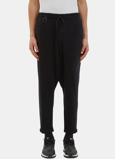 Zipped Textured Knit Track Pants