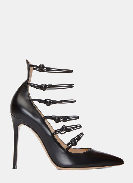 Marquis Elastic Strapped Stiletto Pumps