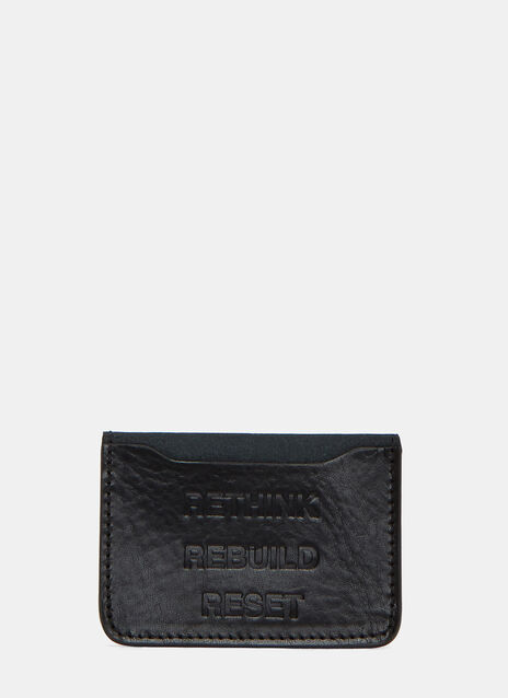 Embossed Leather Card Holder Wallet