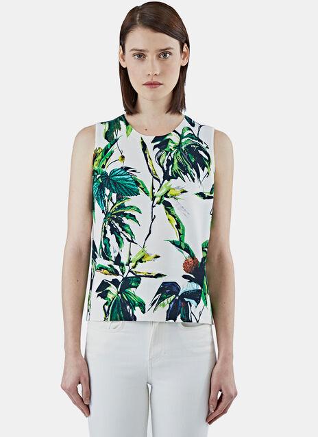 Tropical Print Knit Tank