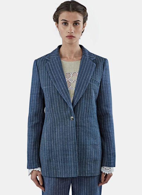 Striped Gangster Suit Jacket