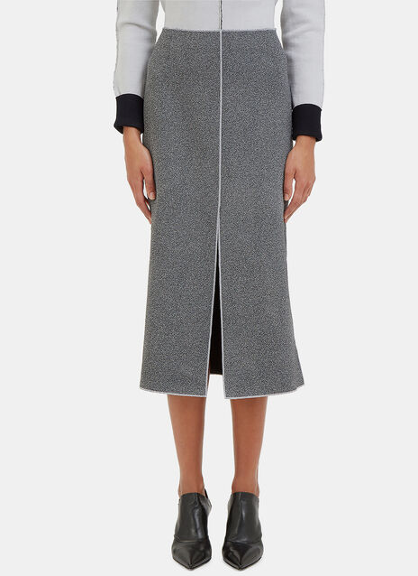 White Noise Overlocked Seam Skirt