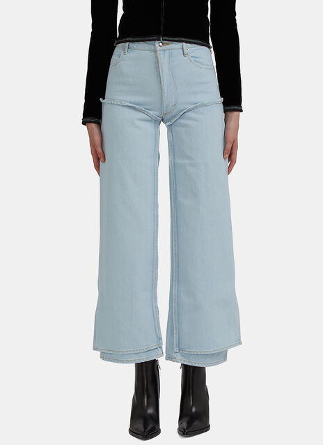 Double-Layered Panel Jeans