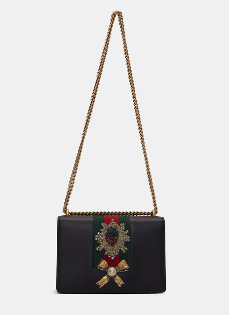 Peony Diamante Embellished Crossbody Bag