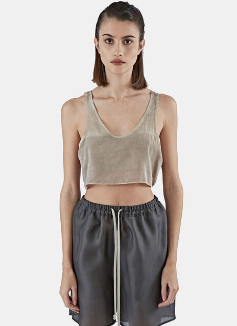Callisto Silk Crop Top