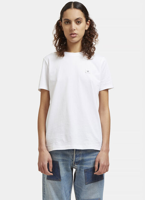Acne Taline Face T-shirts in white