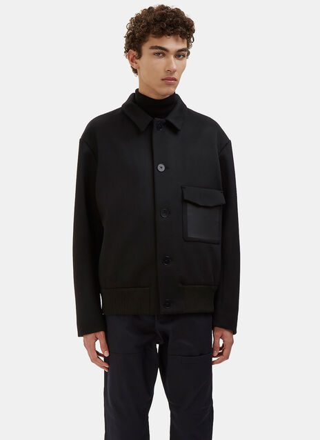 Bonded Wool Blouson Jacket