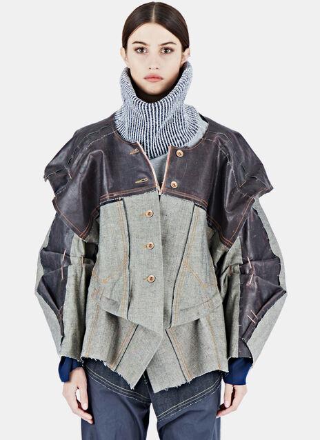Latex Coated XXL Denim Jacket