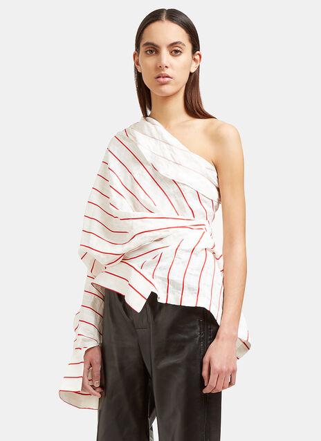 Creased Stripe Twist Shirt