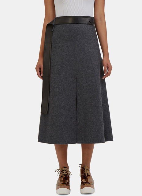 Hovana Mid-Length Wool Skirt
