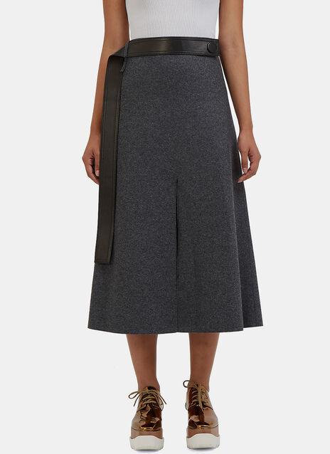 Hovana Mid-Length Wool Skirt