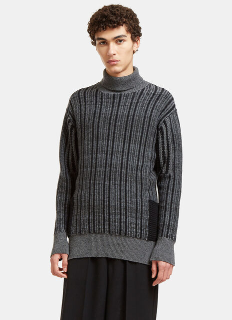 Curiex Mix Big Turtle Neck With Pockets