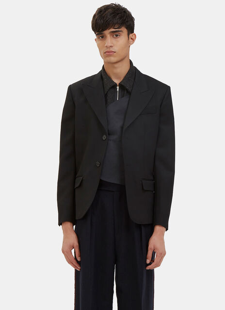 Single-Breasted Blazer Jacket